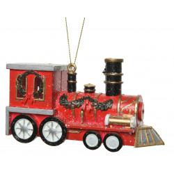 Locomotive à suspendre 4x12x6cm multicolore - DECORIS