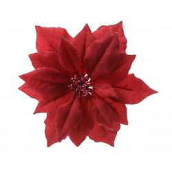 Poinsettia artificiel 24x24x6 rouge - EVERLANDS