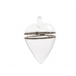 Coeur en verre coffret crochet en verre ø7x10 - DECORIS
