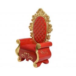 Trone père Noël 101x56x162cm rouge - DECORIS