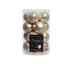Boule en verre uni mat brillant 16 ø3.5 perle - DECORIS