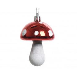 Champignon à suspendre ø5x7.5 blanc/rouge - DECORIS
