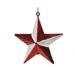 Etoile à suspendre 9x9.5cm rouge - DECORIS