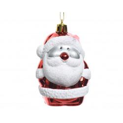 Père Noël à suspendre ø5x8 blanc/rouge - DECORIS