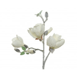 Branche plasti magnolia 50cm blanc - EVERLANDS