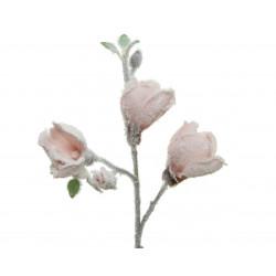 Tige artificiel fleurie floq 50cm rose poudré - EVERLANDS