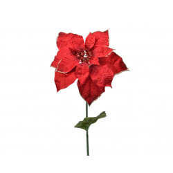 Tige poinsettia ø25x70 rouge - EVERLANDS