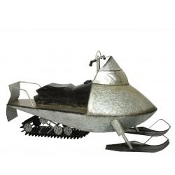 Scooter des neiges zinc 195x90x101 argent - DECORIS