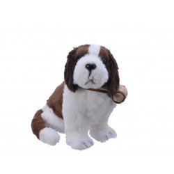 Saint Bernard fourrure 22x23x21 brun/brun - DECORIS