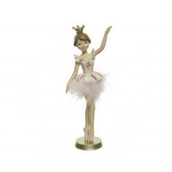 Danseuse s/support 4.5x8.5x21 rose doux - DECORIS