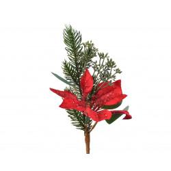 Branche déco poinsettia 25cm vert - EVERLANDS