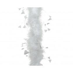 Guirlande boa plume 184cm blanc - DECORIS