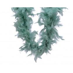 Guirlande plume boa 184cm vert sauge - DECORIS