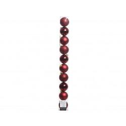 Boules tube de 10 ø6 bordeaux - DECORIS