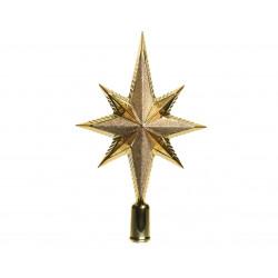Cimier étoile mat/brillant 6.5x14.5x25.5 or - DECORIS