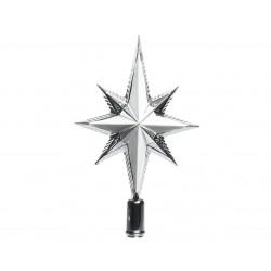 Cimier étoile mat/brillant 6.5x14.5x25.5 argent - DECORIS