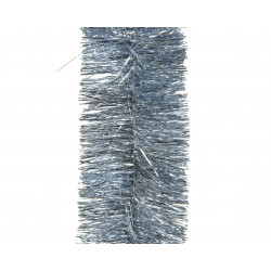 Guirlande lametta ø7.5x270 bleu ciel - DECORIS
