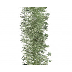 Guirlande lametta étoile ø10x270 vert sauge - DECORIS