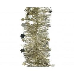 Guirlande lametta étoile ø10x270 champagne - DECORIS