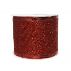 Ruban paillettes 270x6.3cm rouge - DECORIS