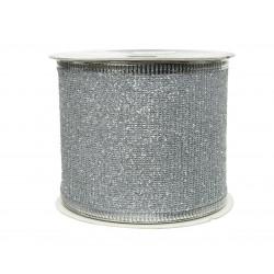 Ruban paillettes 270x6.3cm argent - DECORIS