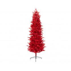 Sapin artificiel teinté NF 210cm rouge - EVERLANDS