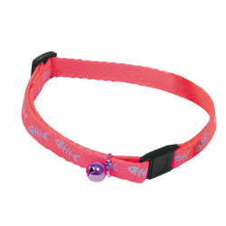 Collier chat fluo fish 10mm-25/35 Rose - MARTIN SELLIER