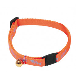 Collier réglable fish reflect 10mm-25/35 Orange - MARTIN SELLIER