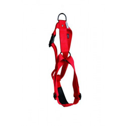 Harnais nylon confort réglable 25mm-70/90 Rouge - MARTIN SELLIER