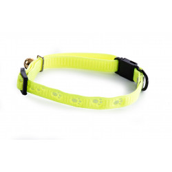 Collier chat patte 10mm-20/30 Jaune - MARTIN SELLIER