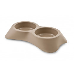 Gamelle plastique double S Taupe - MARTIN SELLIER