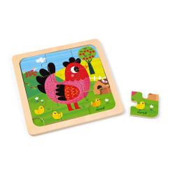 Puzzle poule violette - JANOD