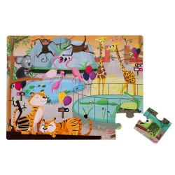 Puzzle tactile - une journée au zoo - 20Pcs - JANOD
