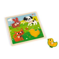 Puzzle tactile - Mes premiers animaux - JANOD