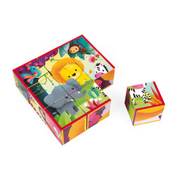 Kubkid - 9 cubes animaux de la jungle - JANOD