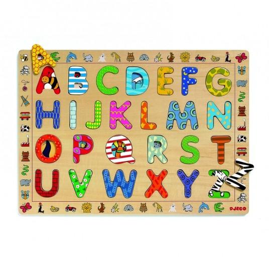 """Puzzle en bois """"ABC"""""""