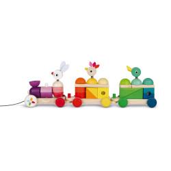 Train géant multicolor Zigolos - JANOD