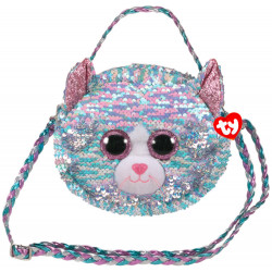 Sac a bandoulière sequins - Whimsy le chat - TY