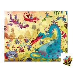 Valisette ronde - puzzle dragons - 54Pcs - JANOD
