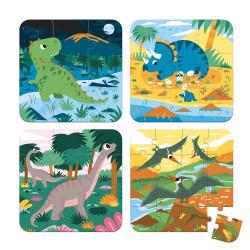4 puzzles évolutifs- dinosaures (6-9-12-16 Pcs) - JANOD