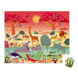 Puzzle réserve animaliere - 54 Pcs - JANOD