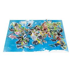 Puzzle éducatif- les animaux menacés - 200 Pcs - JANOD