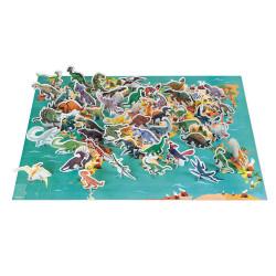 Puzzle éducatif- les dinosaures - 200 Pcs - JANOD