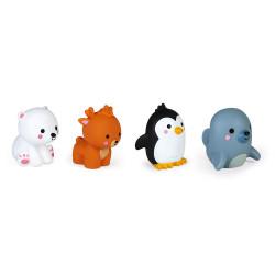 4 Gicleurs de bain - Les animaux polaires - JANOD