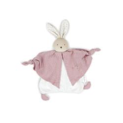 Petit pas - Doudou coton bio lapinou rose - KALOO