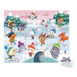 Puzzle bataille de boule de neige - 36 Pcs - JANOD