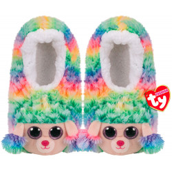 Chaussons sequins L T37 - Rainbow le caniche - TY