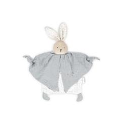Petit pas - Doudou coton bio lapinou gris - KALOO
