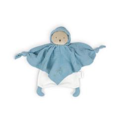 Petit pas - Doudou coton bio ourson bleu - KALOO