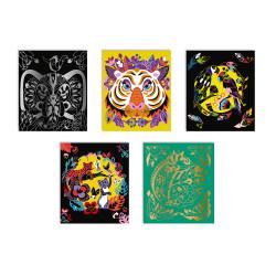 Scratch art - animaux du monde - JANOD